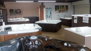 Walfins hot tub showroom at Royal Wootton Bassett near Swindon, Wiltshire