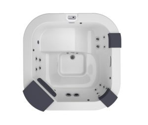 Jacuzzi Delfi Hot Tub Overhead View