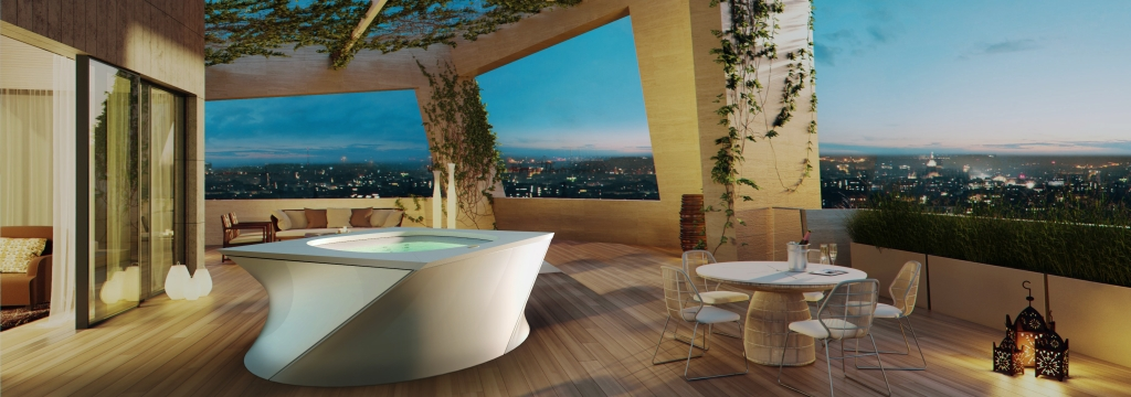 Jacuzzi Flow Hot Tub Italian Design